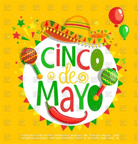 cinco de mayo background cinco de mayo lettering on background royalty