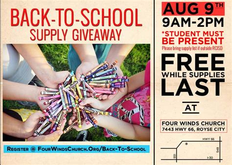 Back To School Supplies Giveaway - four winds church to hold back to school supply giveaway blue ribbon news