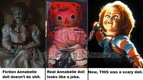 annabelle doll vs chucky review annabelle 2014 colourlessopinions