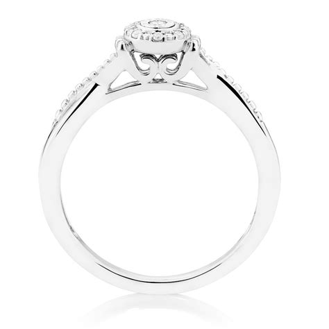 promise ring with 1 20 carat tw of diamonds in sterling silver