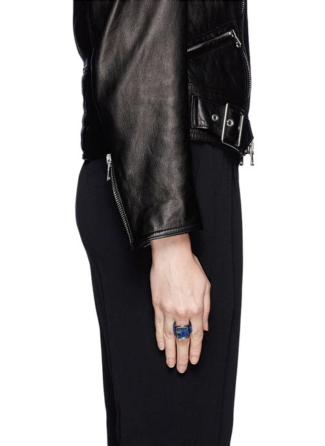 givenchy velvet buckle ring on sale blue ring fashion jewellery womenswear