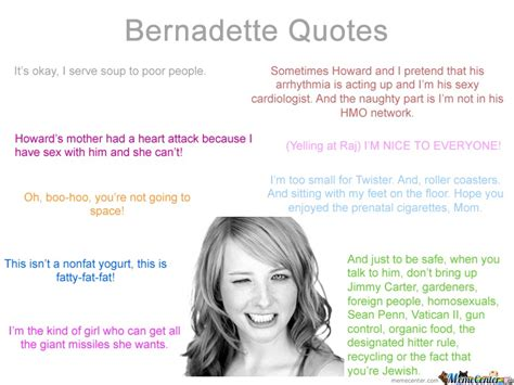 Bernadette Meme - bernadette quotes not made by me by troller1 meme center