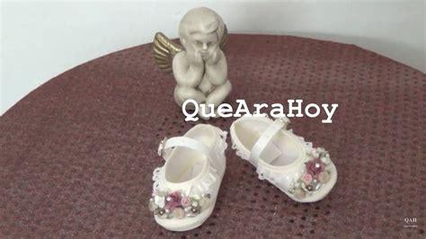 decorar zapatos bebe zapatitos para bebe decorados para bautizo youtube