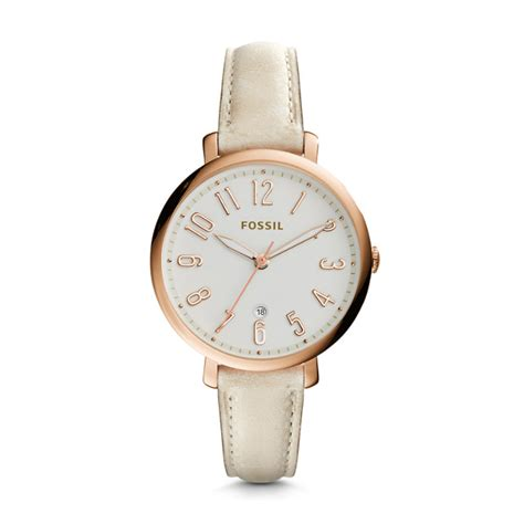 fossil 2258g light brown jacqueline three date light brown leather fossil