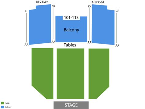 fonda theater seating henry fonda theatre seating chart events in los angeles ca