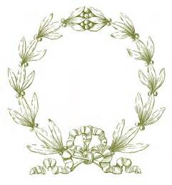 vintage christmas clip art laurel wreath frame the