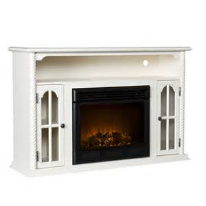 parkwood electric fireplace media console antique white