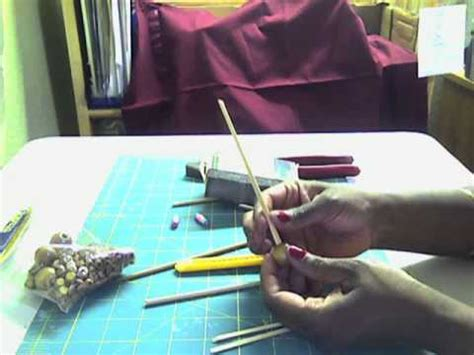 How To Make A Paper Bead Roller - how to make a home made paper bead roller tool how to