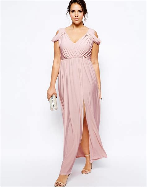 62033 Kartika Maxi 2 In 1 asos wrap front maxi dress in pink lyst