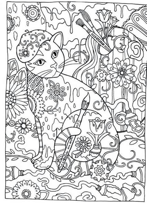 advanced cat coloring pages 242 best images about adult coloring pages cats cats