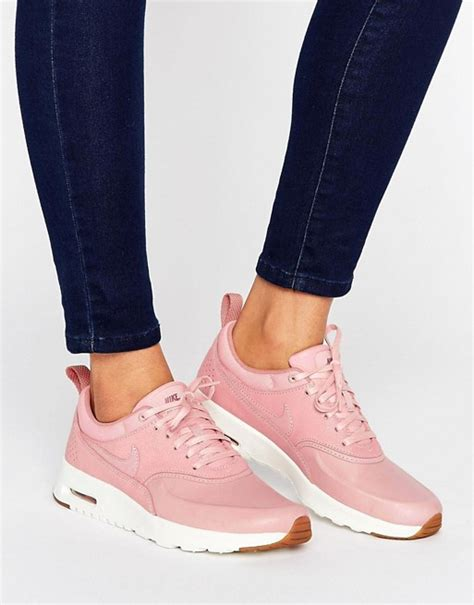 Nike Air Max Thea Pink nike nike air max thea basket weave trainers in pink