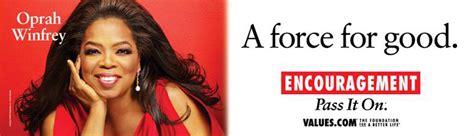 oprah winfrey values see the new encouragement billboard featuring oprah