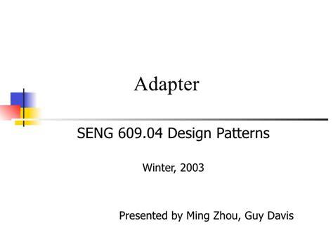 pattern making slideshare adapter design pattern