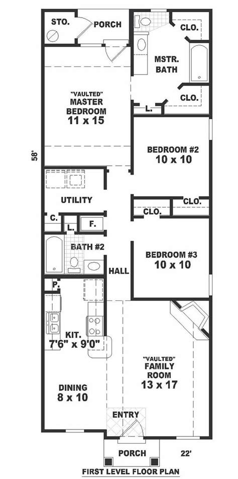 long narrow floor plans long narrow house floor plans home photo style
