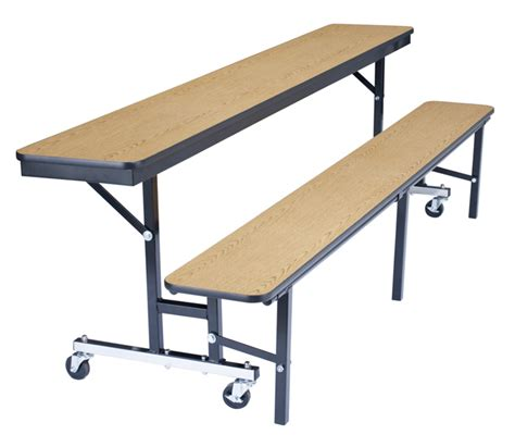 bench table convertible national public seating mobile convertible bench table w