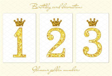 Cape Brukat Glitter Gold 1 golden glitter numbers objects creative market