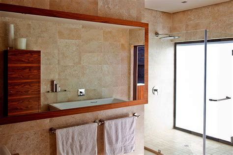 large glass mirror bathroom bathroom marble large mirror glass shower house aboobaker limpopo south africa