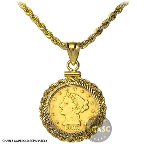 bezel jewelry buy solid 14k gold coin bezel pendant 2 5 gold liberty