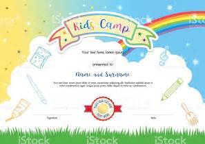 colorful certificate template colorful summer c diploma certificate template in