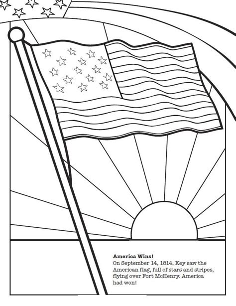 coloring page of the star spangled banner 40 best images about 2nd grade history on pinterest
