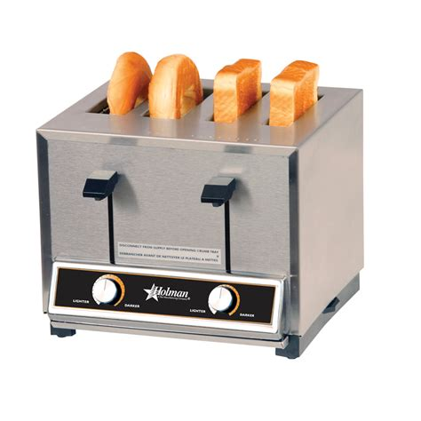 Bread Pop Up Toaster T4 Stainless Steel 4 1 1 8 Quot Slot Holman Pop Up