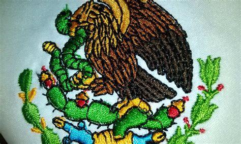 imagenes chidas mexico bandera mexico escritorio 15x25 bordada color con asta