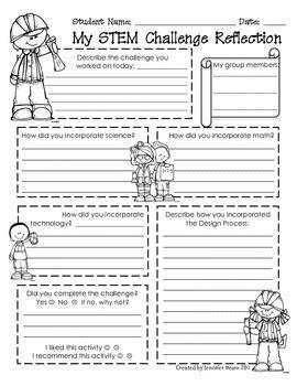 Stem Worksheets by Stem Challenge Student Refl By A Stem S Delight