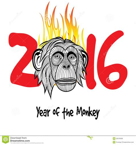 new year year of the monkey 2013 nouvelle 233 e chinoise 2016 233 e de singe illustration