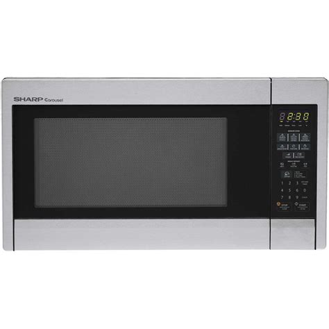 Microwave Sharp 399 Watt ge 1 6 cu ft countertop microwave oven in stainless steel jes1656srss the home depot