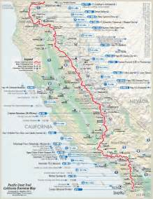 take a hike map of the pacific crest trail