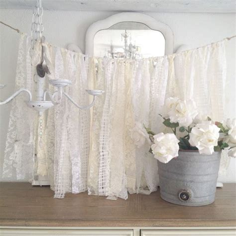 Vintage Shabby Chic Decorations - lace wedding garland shabby chic wedding decor diy vintage