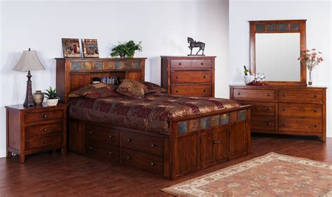 Rustic Platform Bed With Drawers by Rustic Platform Bed Frame With Storage And Bookcase