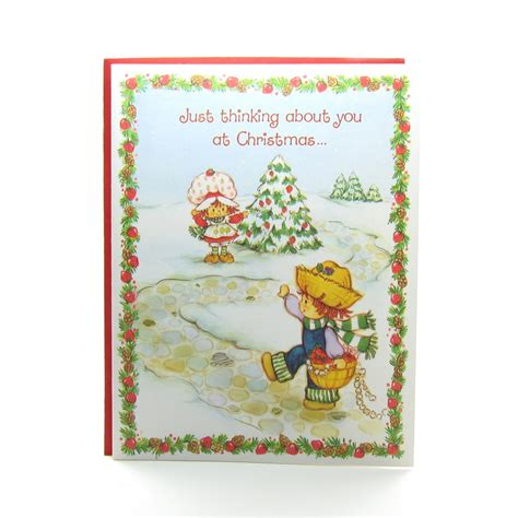 Strawberry Card Gold strawberry shortcake greeting card with
