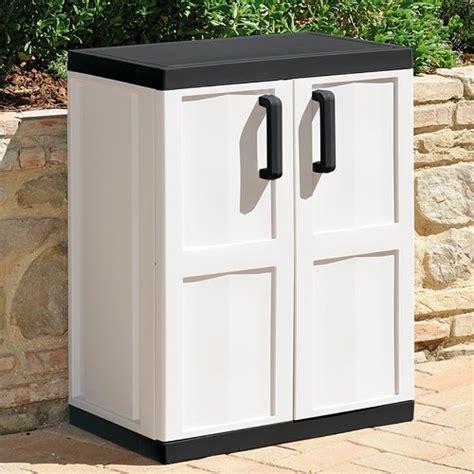 cabinet outdoor polymer cabinet doors outdoor garden plastic storage box 2 door 2 shelves white home cupboard cabinet ebay