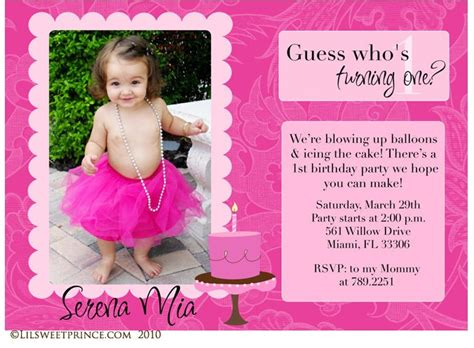 Appropriate Gift Card Amount For Birthday - first birthday invitation photo