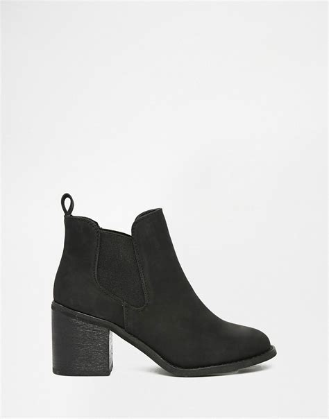 Boot Island 1 river island river island black chelsea heeled boot at asos