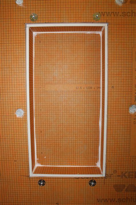 installing a kerdi board niche