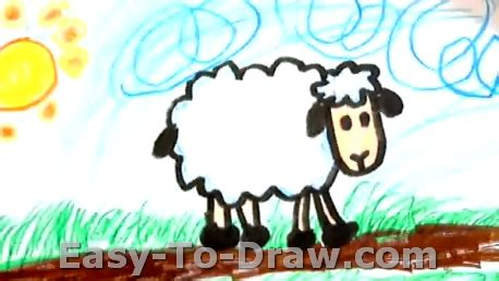 how to a sheep how to draw a sheep for 187 easy to draw