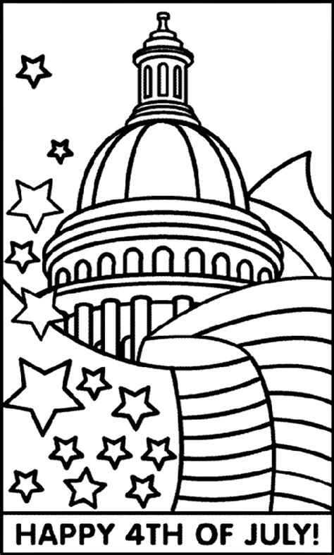 july 4th capitol and flag coloring page crayola com