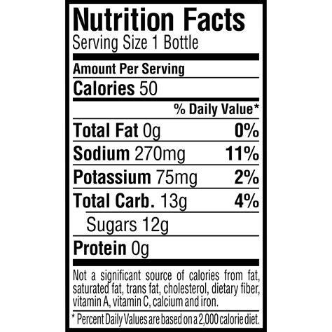 Gatorade Nutrition Label Nutrition Ftempo Gatorade Label Template