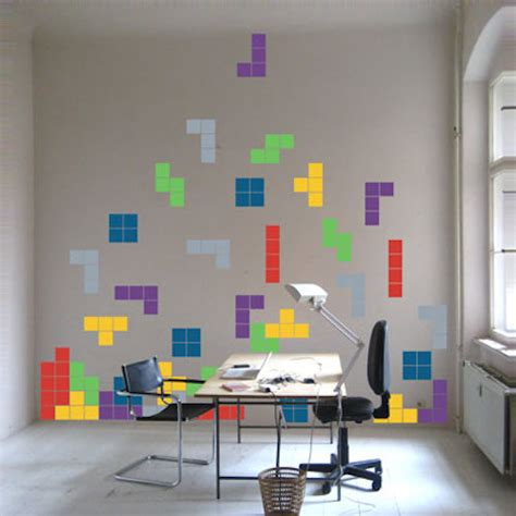 Kitchen Chalkboard Ideas tetris wall art stickers trendy wall designs