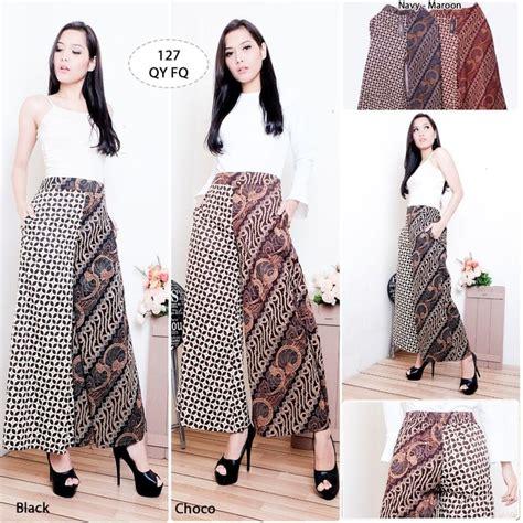Celana Batik Wanita Panjang R1213 jual celana kulot batik modren celana panjang batik