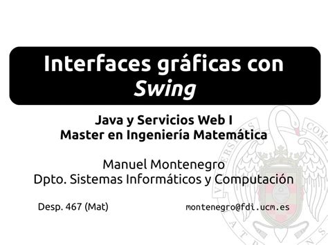 swing in java pdf pdf de programaci 243 n swing java y servicios web i