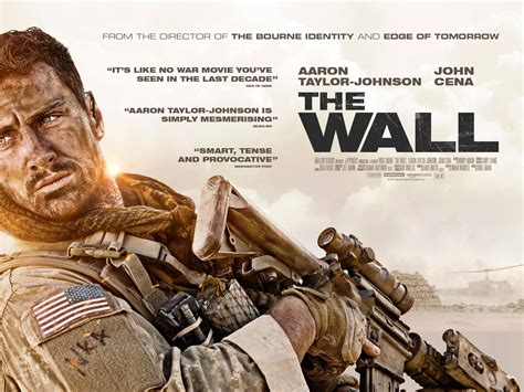 aaron taylor johnson the wall aaron taylor johnson fronts new poster for the wall