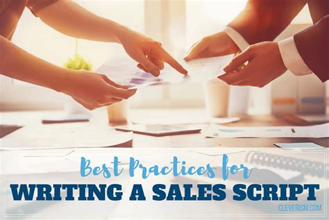 Best Practices For Writing A Sales Script