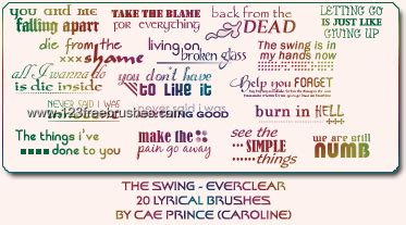 the swing lyrics everclear the swing lyrics letter brushes for photoshop