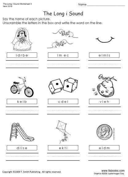 I E Worksheets by I Sound Worksheet 3