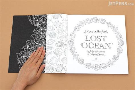 libro lost ocean an inky lost ocean an inky adventure coloring book basford jetpens com