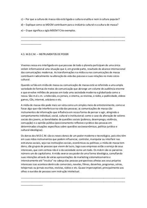Apostila de sociologia - Volume 2 (2° ano do EM)