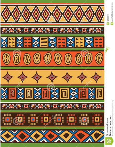 Ndebele Stock Images Royalty Free Images Vectors | set of african pattern stock vector illustration of